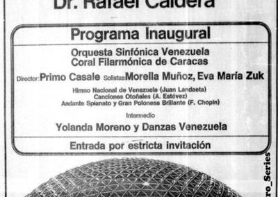 INAUGURACION POLIEDRO DE CARACAS 1974