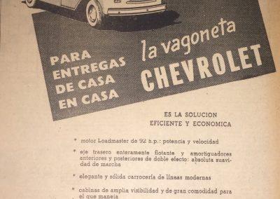 CARS CHEVROLET. Diario El Universal, 1952
