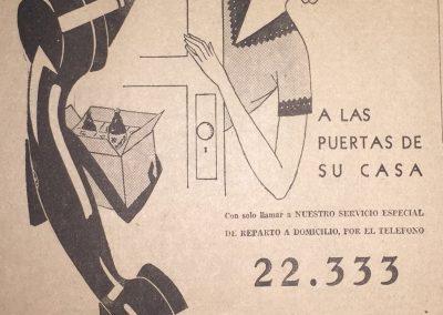 CERVEZA CARACAS A DOMICILIO. Diario La Esfera. Caracas, 1941