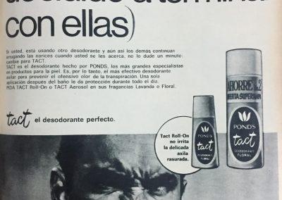 DESODORANTE PONDS. Diario El Universal, 1969