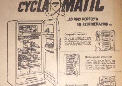 FRIGIDAIRE. Diario La Esfera, 1951