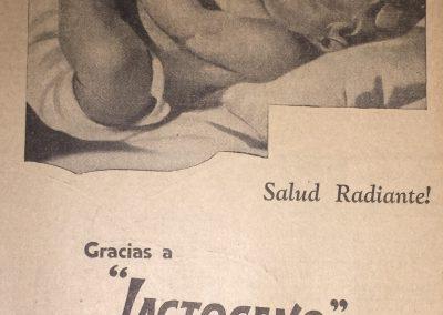 LACTOGENO LECHE MATERNA NESTLE. Diario La Esfera, 1941