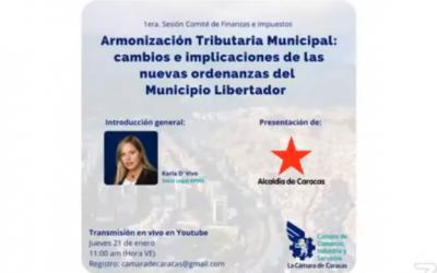 Armonización Tributaria Municipal. Reformas ordenanzas municipio libertador