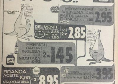 PRECIOS AUTOMERCADOS CADA. Diario El Nacional, 1969