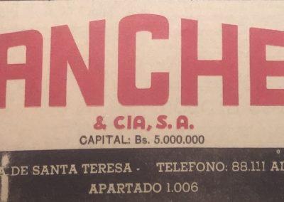 SÁNCHEZ Y COMPAÑÍA. Diario El Nacional, 1954