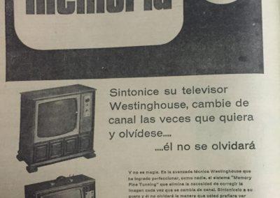 TV WESTINGHOUSE. Diario El Heraldo, 1941
