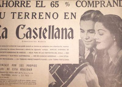 URBANIZACIÓN LA CASTELLANA. Diario La Esfera 1945