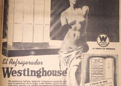WESTINGHOUSE. GONZALEZ Y BOLIVAR. Diario El Heraldo, 1941